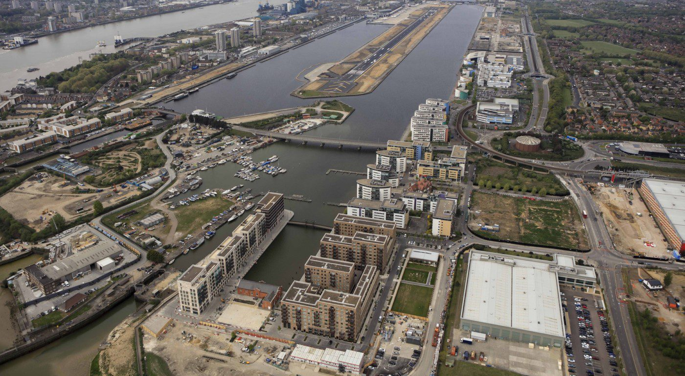 Royal Albert Wharf Aerial View