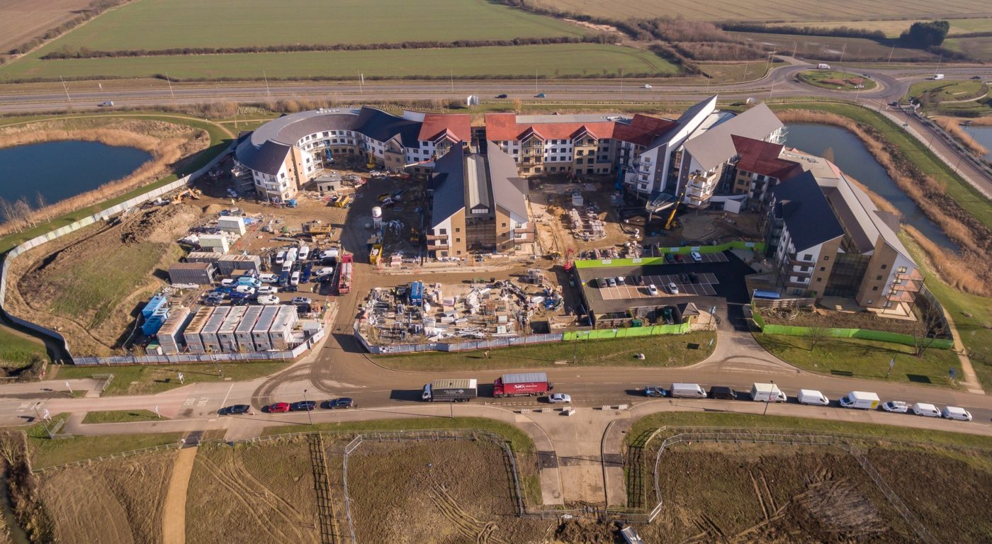 Wixams Retirement Village Aerial View