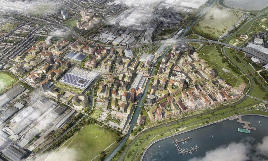 CGI of the Meridian Water Masterplan